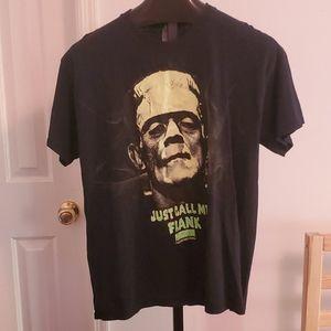 Frankenstein Just call me Frank T-shirt Sz L